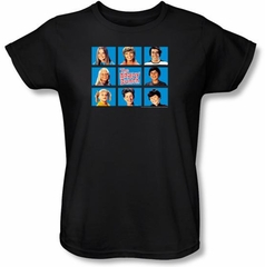 Brady Bunch Ladies T-shirt - Framed Black Tee Shirt
