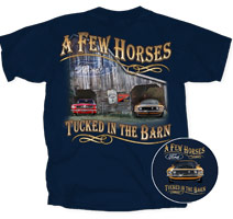 Ford Mustang T-Shirt - A Few Horses Adult Navy Tee Shirt