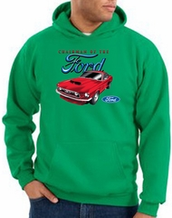 Ford Mustang Hoodie Sweatshirt Chairman Of The Ford Kelly Green Hoody
