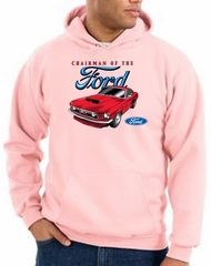 Ford Mustang Hoodie Sweatshirt - Chairman Of The Ford Pink Hoody
