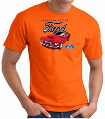 Ford Mustang T-Shirt - Chairman Of The Ford Adult Orange Tee