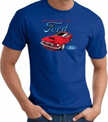 Ford Mustang T-Shirt - Chairman Of The Ford Adult Royal Tee