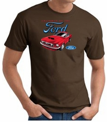 Ford Mustang T-Shirt - Chairman Of The Ford Adult Brown Tee