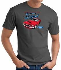 Ford Mustang T-Shirt - Chairman Of The Ford Adult Charcoal Tee