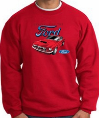 Ford Mustang Sweatshirt - Chairman Of The Ford Adult Red Sweat Shirt