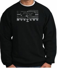 Ford Mustang Sweatshirt Legend Honeycomb Grille Black Sweat Shirt