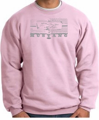 Ford Mustang Sweatshirt Legend Honeycomb Grille Pink Sweat Shirt