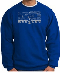 Ford Mustang Sweatshirt Legend Honeycomb Grille Royal Sweat Shirt