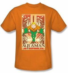 Aquaman T-shirt - DC Comics Aquaman Adult Orange Tee