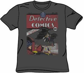 Batman T-shirt - Batman Detective #27 Distressed Adult Black Tee