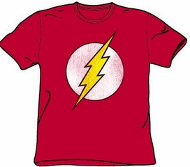 The Flash T-shirt - Flash Logo Distressed Adult Red Tee