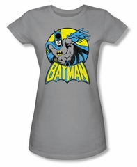 Batman Juniors T-Shirt - Superhero Gray Tee