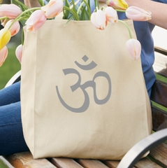 AUM Symbol 100% Organic Cotton Grocery Tote Bag