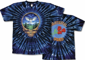 Grateful Dead T-shirt Tie Dye Owl Tee Shirt