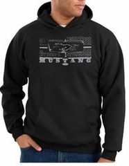 Ford Mustang Hoodie Hooded Sweatshirt Legend Honeycomb Grille Black
