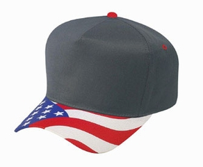 US Hat with Flag Patriotic Design - Golf Style Cotton Cap