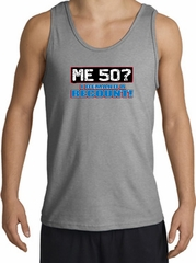 50th Birthday Tanktop - Funny Me 50 Years Adult Sports Grey Tank Top