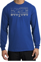 Ford Mustang Shirt Legend Honeycomb Grille Royal Shirt