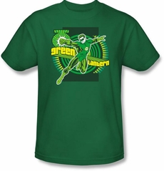 Green Lantern Superhero T-shirt - DC Comics Adult Kelly Green Tee