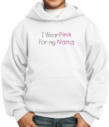 Breast Cancer Hoodies Hooded Sweatshirts - I Wear Pink For My Nana