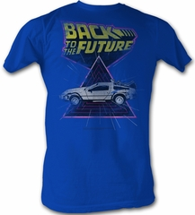 Back To The Future T-Shirt - Speed Demon Blue Adult Tee Shirt