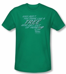 Back To The Future Kids T-shirt Make Like A Tree Green Shirt Youth