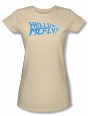 Back To The Future Juniors T-shirt Movie Hello Mcfly Cream Tee Shirt