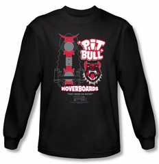 Back To The Future II Long Sleeve T-shirt Pit Bull Black Tee Shirt