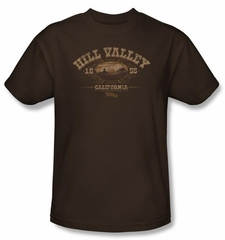 Back To The Future III T-shirt Hill Valley 1855 Adult Coffee Tee Shirt