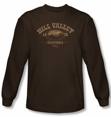 Back To The Future III Long Sleeve T-shirt Hill Valley 1855 Shirt