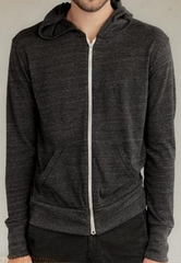 Alternative Apparel Eco-Heather Zip Hoodie Sweatshirt - Eco Black