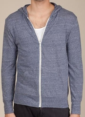 Alternative Apparel Eco-Heather Zip Hoodie Sweatshirt - Eco Navy