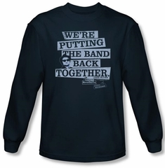 The Blues Brothers T-shirt Movie Band Back Navy Blue Long Sleeve Shirt