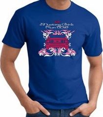 Ford Mustang T-Shirt - Girls Run Wild Adult Royal Tee Shirt