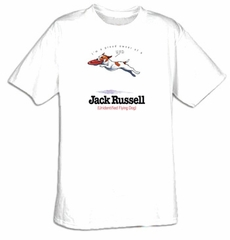 Jack Russell Shirt I'm a Proud Owner of a Jack Russell Flying Dog Tee