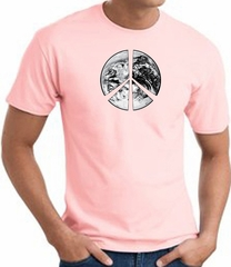 Peace Shirt Peace Earth Satellite Image Tee Pink