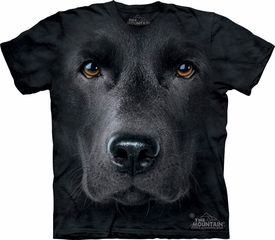 Black Lab Shirt Tie Dye Dog Face T-shirt Adult Tee