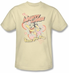 Mighty Mouse T-shirt - TV Series Saved My Day Youth Kids Sand Tee