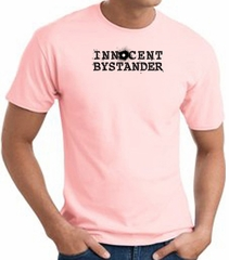 INNOCENT BYSTANDER BLACK Funny Adult T-shirt - Pink