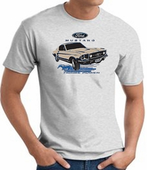 Ford Mustang T-shirt - Horsepower Adult Ash Tee Shirt