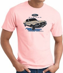 Ford Mustang T-shirt - Horsepower Adult Pink Tee Shirt