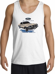 Ford Mustang Tank Top - Horsepower Adult White Tanktop