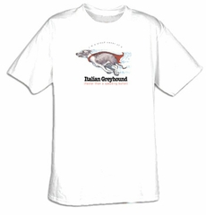Greyhound T-shirt - I'm a Proud Owner of an Italian Greyhound Dog Tee