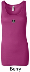 Ladies Yoga Tank – Aum Patch Meditation Longer Length Tanktop