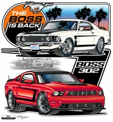 Ford Mustang Shirt - The Boss is Back Mens White T-shirt