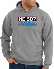 50th Birthday Hooded Hoodie Funny Me 50 Years Athletic Heather Hoody