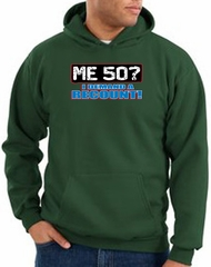 50th Birthday Hooded Hoodie Funny Me 50 Years Dark Green Hoody