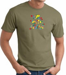 I'm With Stupid T-Shirt - Funny Two Ways Adult Army Green Tee Shirt