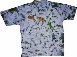 Mystical New Age Frogs Adult Unisex Tie Dye T-shirt Tee Shirt