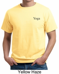 Mens Yoga T-shirt Yoga Logo Pocket Print Adult Organic Tee Shirt